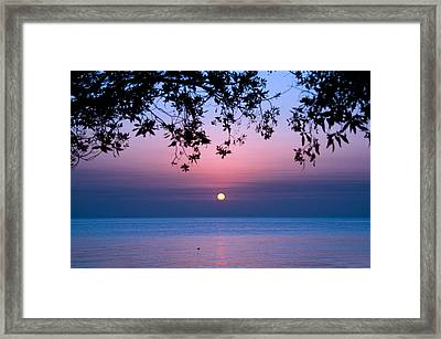 Sunrise Over Sea Framed Print