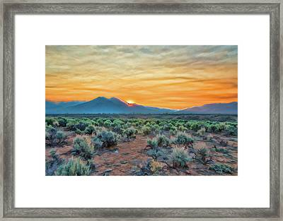Sunrise Over Taos Framed Print