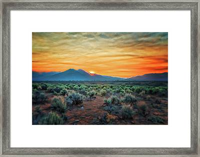 Sunrise Over Taos II Framed Print