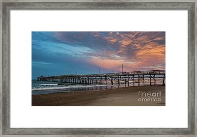 Sunset Over The Atlantic Framed Print