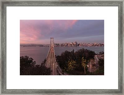 Sunrise Over The Bay Bbridge Framed Print by John McGraw
