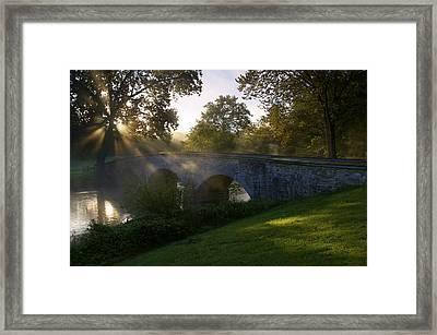 Sunrise Over The Burnside Bridge Framed Print