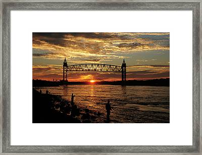 Sunrise Over The Canal Framed Print by Nancy Marshall