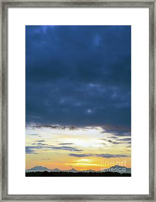 Sunrise Over The Cascades Framed Print