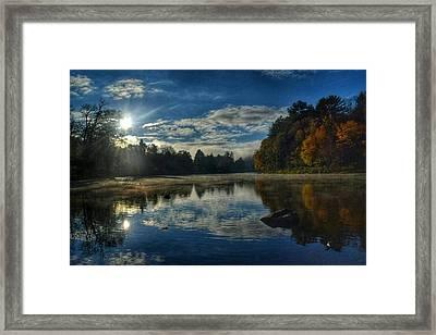 Sunrise Over The Clarion River Framed Print