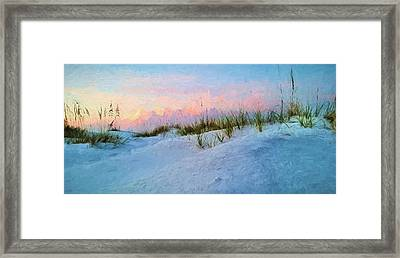 Sunrise Over The Dunes Of South Walton Framed Print by JC Findley