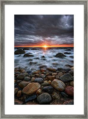 Sunrise Over The East End Framed Print by Rick Berk