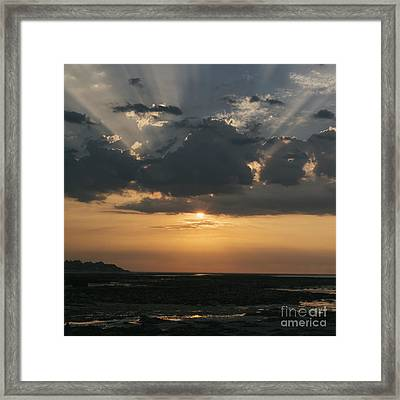 Sunrise Over The Isle Of Wight Framed Print