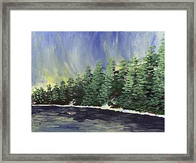 Sunrise Over The Millpond Framed Print