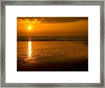 Sunrise Over The Ocean Framed Print by Svetlana Sewell