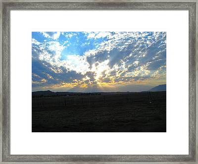 Sunrise Over The Pass Framed Print by Mitch Hino