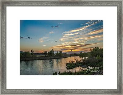 Sunrise Over The Payette River Framed Print by Robert Bales