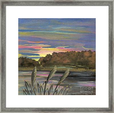 Sunrise Over The Ponds Framed Print by Anna Folkartanna Maciejewska-Dyba