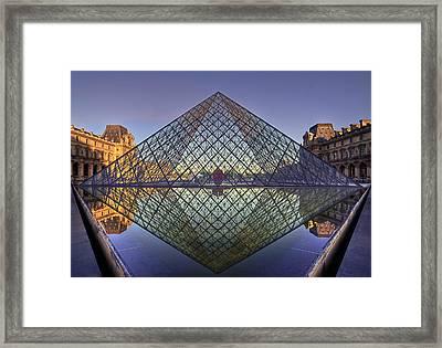 sunrise over the Pyramid Framed Print by Stephanie Benjamin