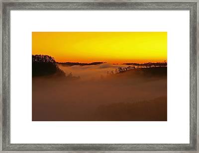 Sunrise Over The Red River Gorge. Framed Print