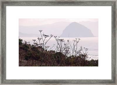 Sunrise Over The Rock Framed Print