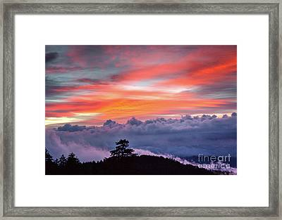 Framed Print featuring the photograph Sunrise Over The Smoky's II by Douglas Stucky