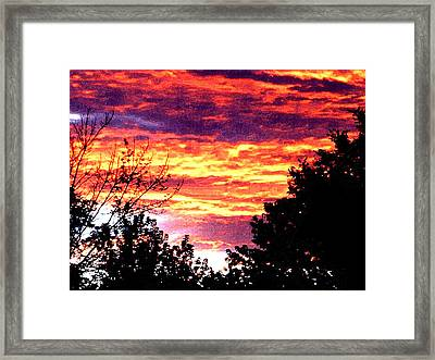 Sunrise Over The S.p. Framed Print by Nathaniel Hoffman
