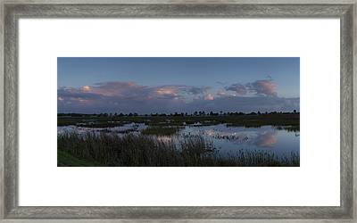 Sunrise Over The Wetlands Framed Print