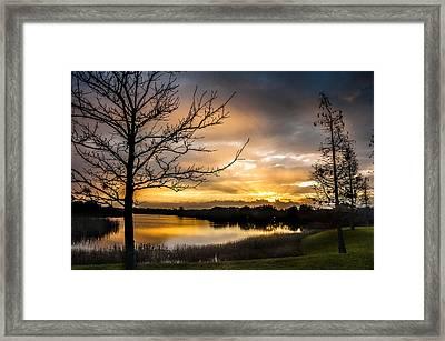 Sunrise Over Valhalla Framed Print by Norman Johnson