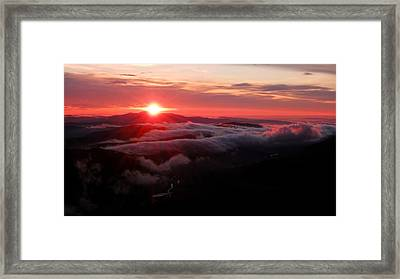 Sunrise Over Wyvis Framed Print