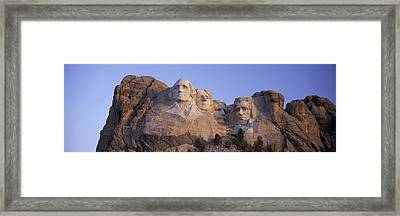 Sunrise Panoramic Image Of Presidents Framed Print