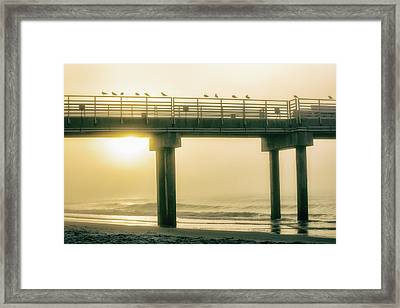 Framed Print featuring the photograph Sunrise Pier In Alabama  by John McGraw