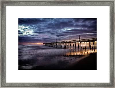 Sunrise Pier Framed Print