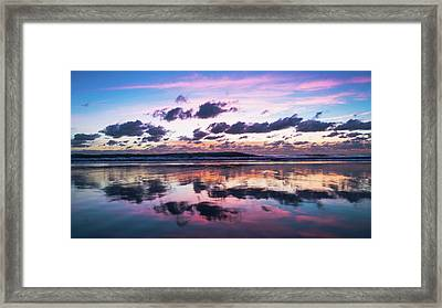 Sunrise Pink Wisps Delray Beach Florida Framed Print