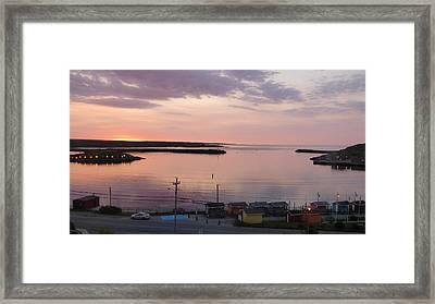 Sunrise Port Aux Basque, Newfoundland  Framed Print by Joel Deutsch