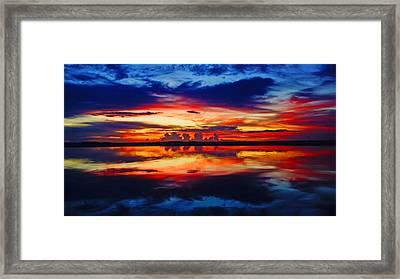 Sunrise Rainbow Reflection Framed Print