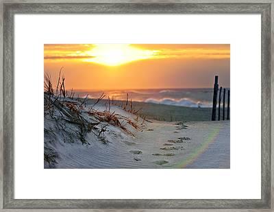 Sunrise Rainbow Framed Print by Vicki Jauron