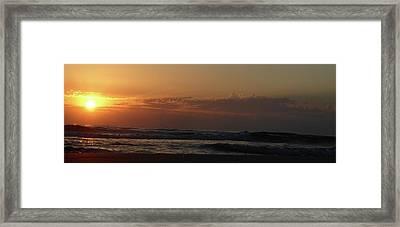 Sunrise Framed Print by Rayne Van Sing