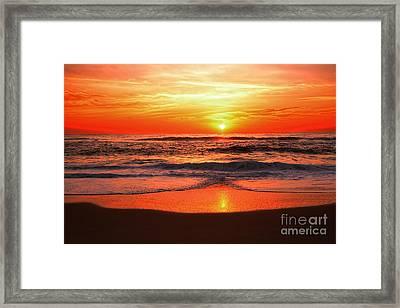Sunrise Reflecting By Kaye Menner Framed Print by Kaye Menner