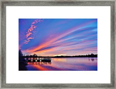 Sunrise Reflecting Framed Print by Diane Alexander