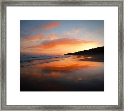 Framed Print featuring the photograph Sunrise Reflection by Roy McPeak