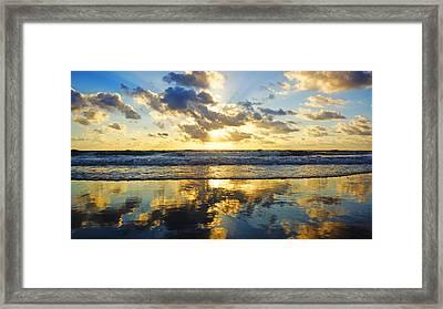 Sunrise Reflections Framed Print