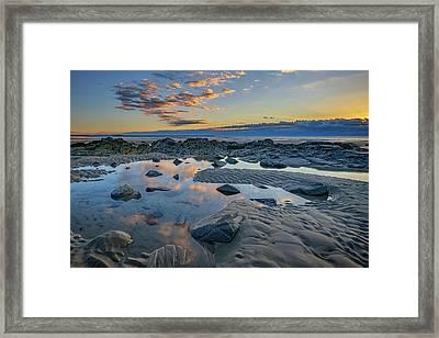 Sunrise Reflections On Wells Beach Framed Print by Rick Berk