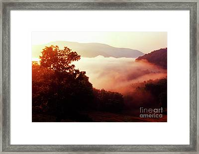 Sunrise Rich Mountain Framed Print by Thomas R Fletcher