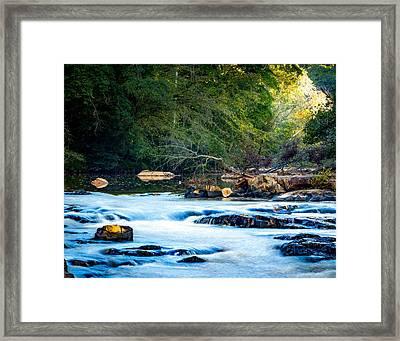 Sunrise River Framed Print