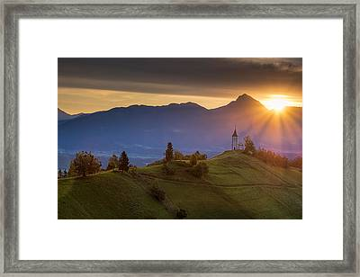 Sunrise Framed Print by Robert Krajnc