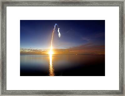 Sunrise Rocket Framed Print