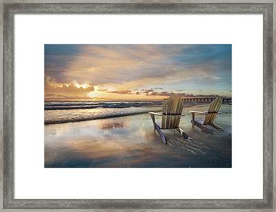 Framed Print featuring the photograph Sunrise Romance by Debra and Dave Vanderlaan