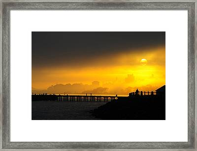 Framed Print featuring the photograph Sunrise San Francisco by Steve Siri