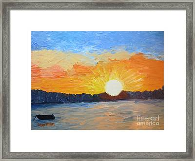Sunrise At Pine Point Framed Print by Stella Sherman