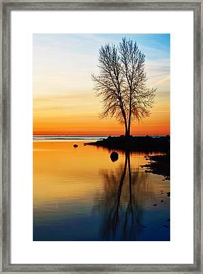 Sunrise Serenity Framed Print by James Marvin Phelps