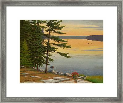Sunrise Shore Framed Print