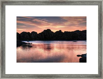 Sunrise Silhouettes Framed Print by Donna Kennedy