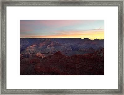 Sunrise Sky At Grand Canyon Framed Print