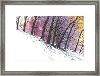 Sunrise Snow Framed Print